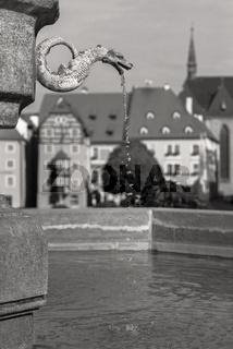 Brunnen in der Altstadt Cheb