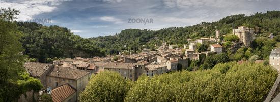 Der Ort Largentiere, Frankreich, Panorama