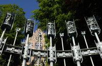 Maskenbrunnen in Flensburg