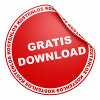 3D Aufkleber Rot - Gratis Download