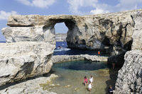 Azur Windwow und Blue Hole, Zerka Tor, Gozo, Malta