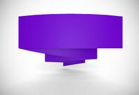 Werbebanner gefaltet - violett