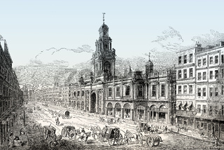 The second Royal Exchange, London, 18th century