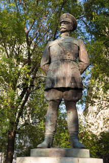 Statue of US Army Major General Harry Hill Bandholtz in front of the US Embassy in Budapest created by Hungarian sculptor Miklós Ligeti