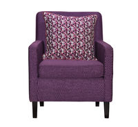Purple textile chair isolated