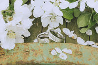 Garden Wedding Rings