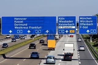 Autobahnkreuz Frankfurt