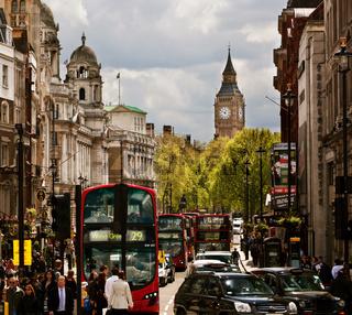 LONDON - September 18: Busy street of London