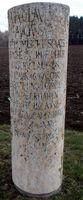 Römerischer Meilenstein an der Via Claudia
