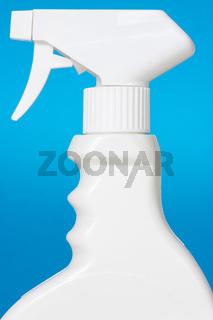 White spray on blue