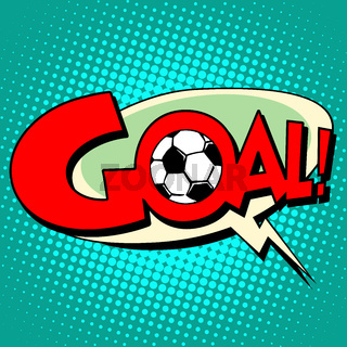 Goal football comic style text