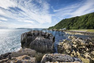 Kalksteinfelsen am Garron Point