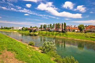 River Kupa in town of Karlovac