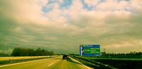 auf der Autobahn in Polen