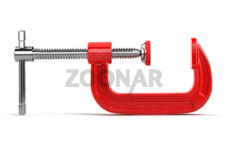 Clamp compression tool isolated on white.
