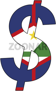 dollar - flag of sint eustatius