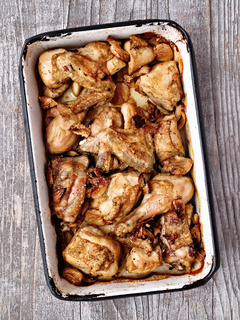 rustic golden roast chicken casserole