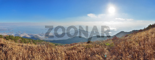 Prospect of Namhae Sea, Sacheon and Hadong in Korea