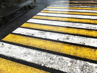 pedestrian crossing during the rain