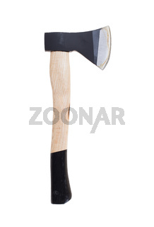 Small hand axe with wooden handle