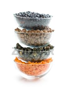 various types of lenses legumes