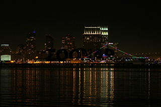 San Diego Skyline bei Nacht