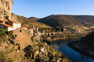 Village Peyre river Tarn, France