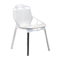 White leather stool chair isolated