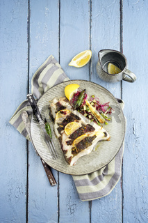 halibut fillet with herbs