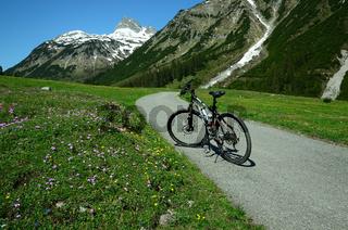 Fahrradtour im Lechquellengebirge;