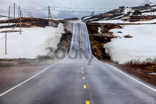 Mountain road in Norway.