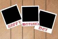 happy mothers day photo frames on designer wallpaper
