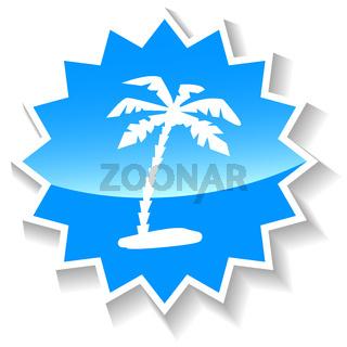 Island blue icon