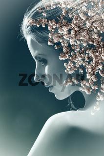 blossom sensual woman
