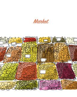 Oriental bazaar, sketch for your design