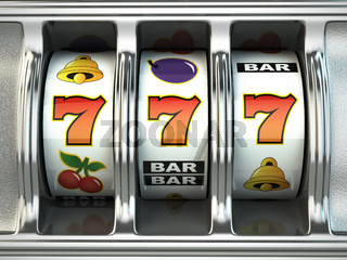 Slot machine with jackpot. Casino concept.