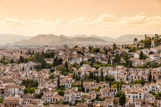 Houses in the city of Granada, Andalusia, Spain