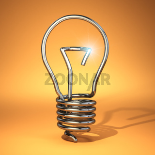 Idea concept. Abstract light bulb silhouette.