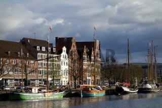 Stadtansicht Museumshafen in Luebeck