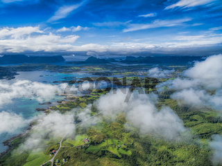 Leknes from air
