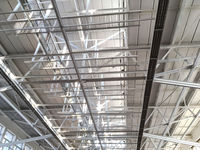 industrial metal roof structure closeup