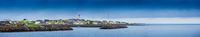 Panoramic View On Norway Fishing Village