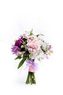Mother's Day bouquet from pink and purple gillyflowers