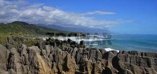 Unique rock formations in Punakaiki