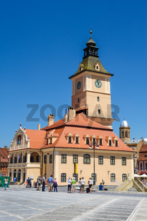 The old town hall and the Council square, Brasov