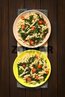Fusilli Pasta with Chard and Tomato