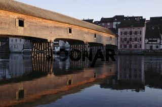 Historische Holzbrücke über den Rhein von Gailingen nach Diessenhofen