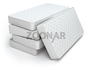 White mattress isolated on white