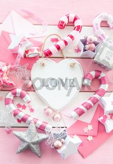 Pinke Weihnachtsdeko