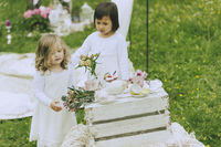 Garden Wedding Flower Children